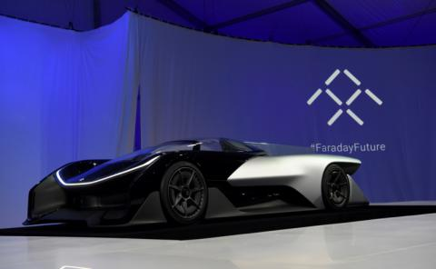 Faraday's futuristic concept sees car as rolling smartphone