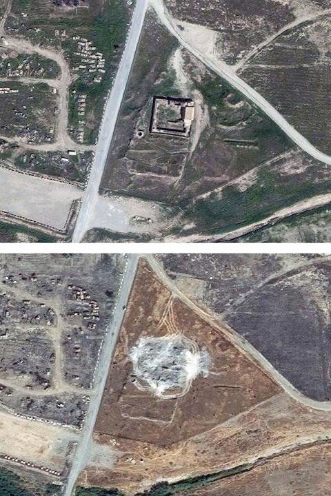 Isis has destroyed Iraq's oldest Christian monastery, satellite images confirm (PHOTO)