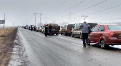 Maryinka checkpoint outside city of Donetsk closed
