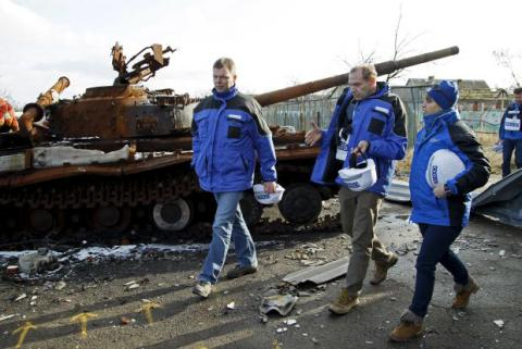 OSCE confirms use of heavy weapons in Zaitseve
