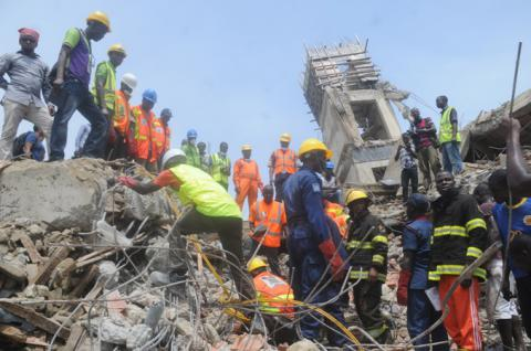 At least 30 die in building collapse in Nigeria's megacity Lagos