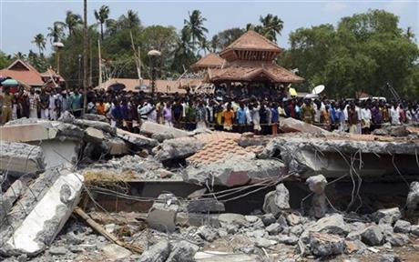 India temple fire killed 110; police hunt suspects (VIDEO, PHOTO)