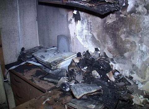 Arson at Kyiv court may be linked with work of Yerofeyev, Alexandrov trial judge