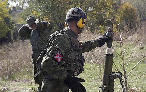 Donbas militants 64 times attaked Ukrainian positions, including 16 from forbidden weapon