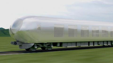 "One of Japan's top architects is working on an ""invisible"" train (PHOTO)"