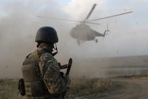 Eight Ukrainian soldiers injured in Donbas