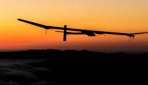 All-solar plane completes historic Pacific crossing