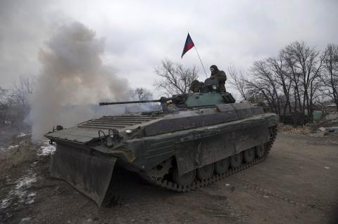 Russia-backed militants deployed tanks, heavy artillery in Donetsk region