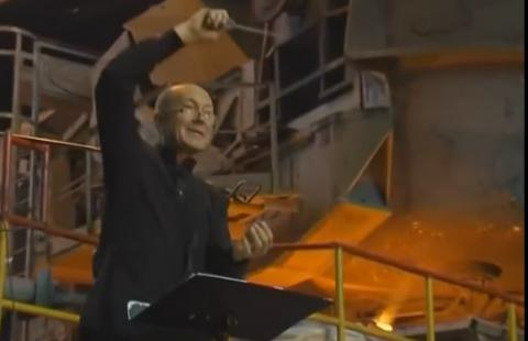 Life vs war: Ukrainian orchestra performs 'Game of Thrones' theme at steel works factory (VIDEO)