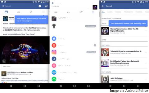 Facebook will save videos for viewing offline