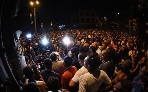 Rally near Yerevan taken police station dispersed, 15 oppositionists arrested - Civil Agreement party leader