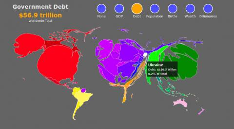 This map shows how world (and Ukraine) would change if shaped by wealth (PHOTO)