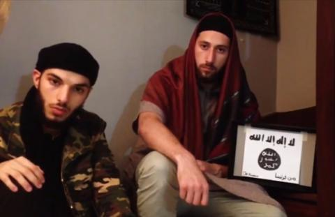IS posted video of two Franch church attackers pledging allegiance to group's leader