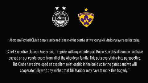 Two Maribor players died in a car accident