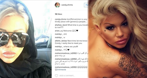 British porn actress causes quite a stir in Iran's social media after visit to Tehran