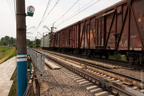 Militants in the ATO zone fired upon the locomotives of the freight train