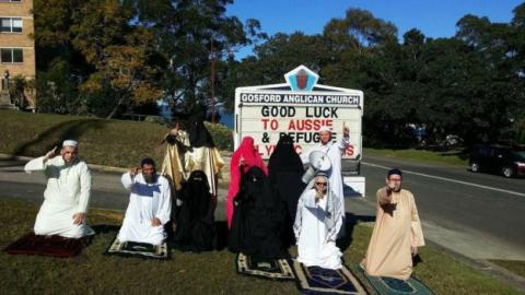 Anti-Islam group interrupted an Anglican service in Australia