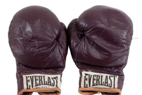 Muhammad Ali's gloves sold at an auction