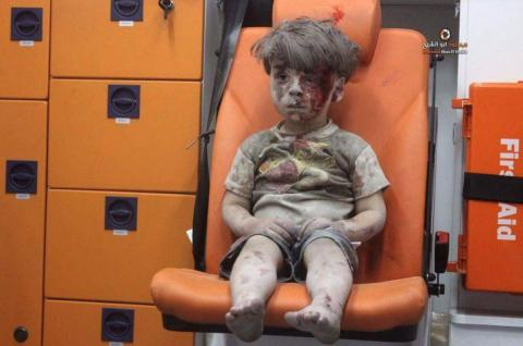 World's social media networks, leaders react to 'Aleppo child' footage
