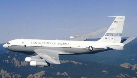 IJoint U.S.-Ukrainian mission performing reconnaissance flight above Russian territory