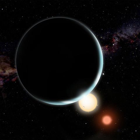 Hubble Telescope Spots a Distant Planet Orbiting Twin Suns