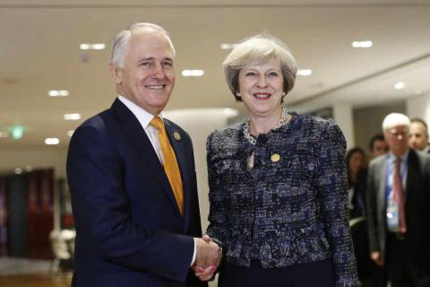 "Australia is keen to get ""very strong"" free trade deal with Britain"