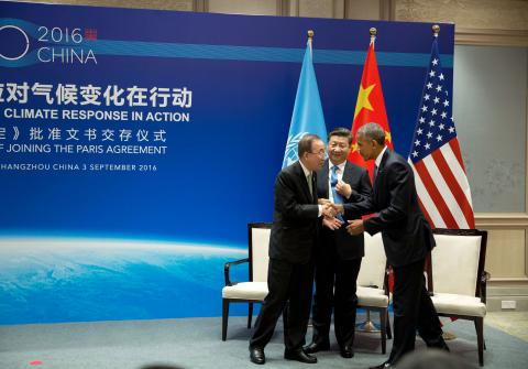 China and U.S. ratified the Paris climate agreement