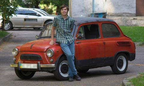 Kyiv student made an electro car from an old Zaporozhets