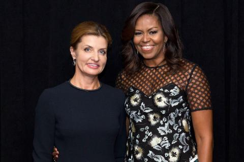 First Ladies of Ukraine and the USA finally met