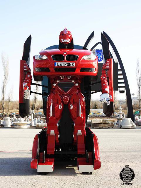 Real Transformer Built from BMW (VIDEO)