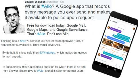 Don't use Google Allo, says Snowden and explains why