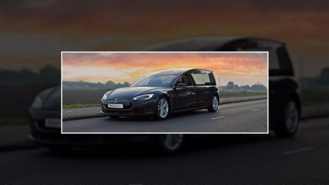 First electric hearse developed on Tesla Model S concept in the Netherlands