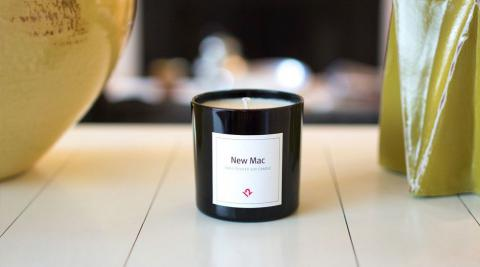 This candle smells like a newly-opened Mac computer