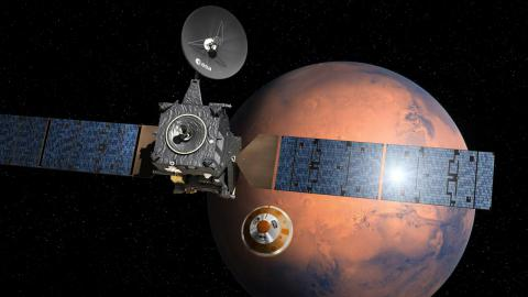 European Mars lender headed to Red Planet