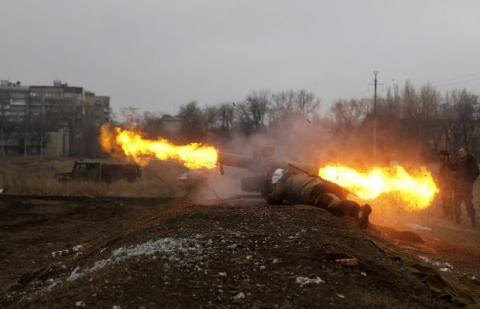 Pro-Russia militants launched 36 attacks on Ukrainian positions in Donbas over past day