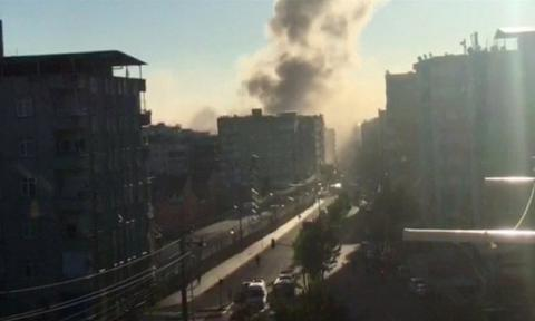 At least several wounded by blast in Turkey's Kurdish city of Diyarbakir