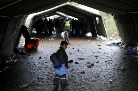 Migrants stopped at Croatian border