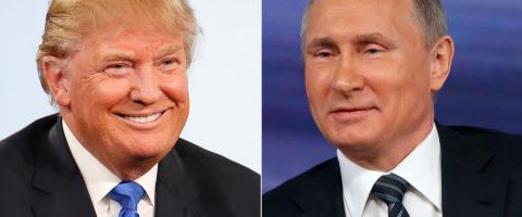 Putin and Trump in phone call for the first time