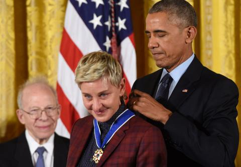Obama awarded his Presidential Medal of Freedom to famous Americans