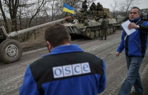OSCE reports record number of truce violations in Donbas this month