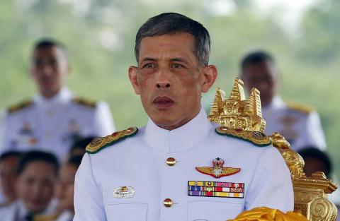 First public appearance of Thailand's new king