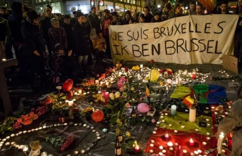 Belgians marking Brussels airport, subway bomb attacks anniversary