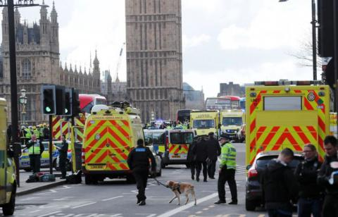 4 killed, 40 injured in terrorist attack at UK Houses of Parliament (VIDEO)