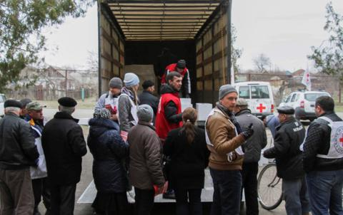 Red Cross sends seven trucks with food, medicines to Donbas residents