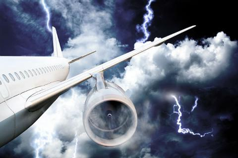 What happens when a plane is struck by lightning?