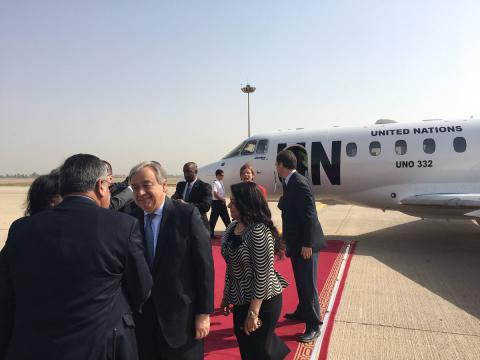 UN chief visits Iraq