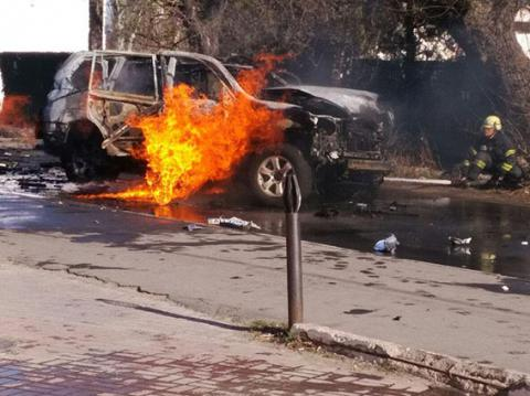 Car explosion in Mariupol was terrorist attack - Ukrainian police