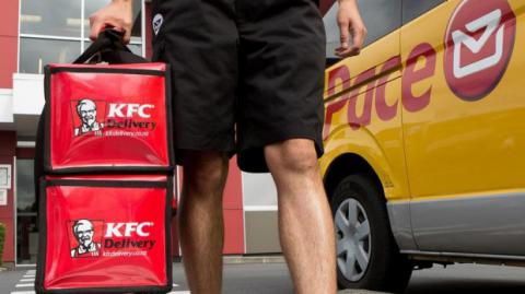 To boost service volumes, NZ Post starts delivering of KFC food