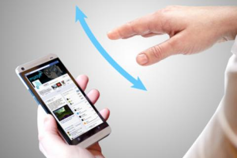 In the future, we will control our mobiles using gestures