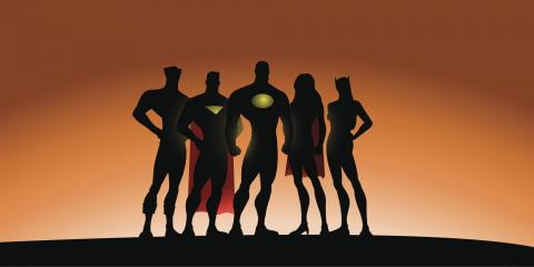 Born to love superheroes